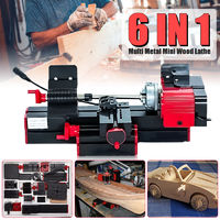 DC 12V 6 In 1 Multi Metal Mini Wood CNC Lathe Motorized Jig-saw Grinder Driller Milling