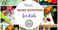 10 SIMPLE SHAPE ACTIVITIES Hands-on playful learning for toddlers and preschoolers!