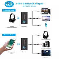 bluetooth Transmitter Receiver 2 In 1 Adapter Mini Portable 3.5mm Jack APTX LL Low Latency for PC TV Car Sound System Wired Speakers