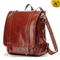 CWMALLS® Boston Mens Leather Flap Laptop Backpack CW916051[Global Free Shipping]