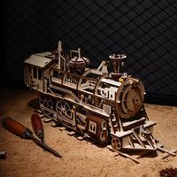 3D Wooden Puzzle,Locomotive Assembly Model Kit,Mechanical Toys $113.50