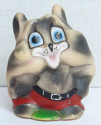 Vintage Original Soviet Russian Rubber Toy Baby Raccoon Doll USSR $3.00