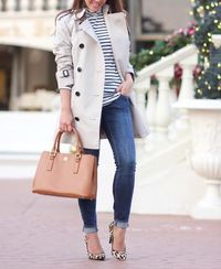 trench coat outfit idea