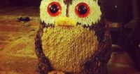 SINCERELY LOUISE: Free Tweed Owl Knitting Pattern