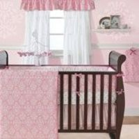 Here it is- Sawyer's new bedding!! Pink crib bedding Bedtime Originals- Essex 8 piece
