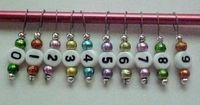 Stitch markers for counting long rows of a pattern - if made with lobster clasp can bs used in knitting to count rows, not just stitches