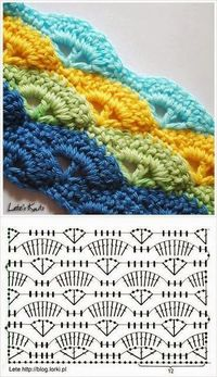 Instructions are in Arabic, but I think I can figure out the pattern. #crochetstitch #crochet
