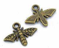 CLEARANCE Pack of 20 Dragonfly Charms. Different Colours. Animal Insect Bee Pendants. 13mm x 18mm £6.99