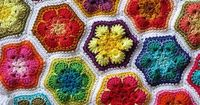 Lately I am convinced that I need to do a Granny Hexagon afghan. Not just ANY old afghan, a truly interesting one. I have mentally picked out my color scheme -