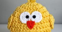 Repeat Crafter Me: Crochet Chunky Baby Chick Hat