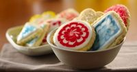 Some things just don't change. Delicate sugar cookies have been favorites for generations. Whether sprinkled with colored sugar, frosted or elaborately decorate