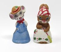Vintage Mouse Bells by Jasco, Mr. and Mrs. Country Mouse Bells $24.99