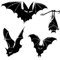 New High Quality Digital Download of Graphic Silhouette Shadow Bats by Alex Dakos 2019 $3.00