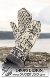Free knitting pattern for these lovely Nordic mittens