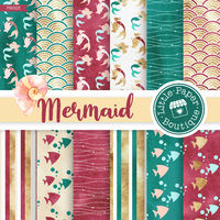 Mermaid Glitter Digital Papers, Nautical Papers, Ocean Papers, Glitter Mermaid Papers, Mermaids, Mermaid Scales Paper Christmas Mermaid $3.00