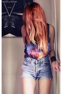 Nothing like a galaxy shirt to show of your Artsy Hipster side. #fashion #space #style