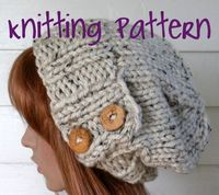 Knitting Pattern Knit Hat Pattern Easy Slouchy by TikiFiberCrafts, $5.00