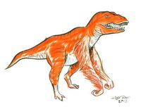 The kids are always hating on the T-rex for having short arms. Problem solved: the Orangutanisaurus rex. via Skedrawdles