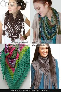 Half granny scarves to crochet | add yarn tassels or learn how to make beaded ones | DiaryofaCreativeFanatic