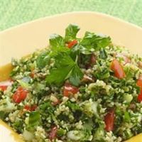 Tabbouleh II Allrecipes.com This is so good! I had to change half of the parsley to cilantro just because I like it so much better.