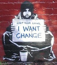 #Banksy #streetart and the reality in Humbolt County.................
