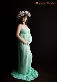The Vermont Gown Mint Chiffon Photography Gown by Bambinibabe