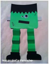 Frankenstein cutting/gluing/folding/tracing paper craft for Halloween