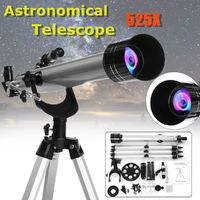 525x High Magnification Astronomical Refractive Telescope With Tripod