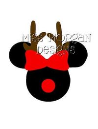 Personalized Reindeer Minnie Mouse Disney iron on by MissMorgan, $7.00