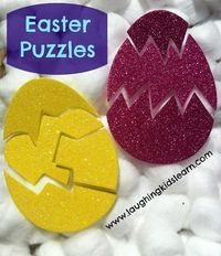 Easter Puzzles. could do this with felt on flannel board