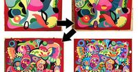 A step by step lesson in making abstract art. I have seen this before but it is a keeper!