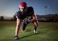 I had the opportunity to work with a couple of college football players, Kory Johnson and Robby Palacios of the Azusa Pacific University football team for a few