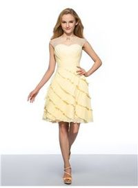 Admirable Beaded Boat Neck Tiered Ruched Chiffon Homecoming Dress
