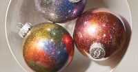 What is a Christmas tree without glass ornaments? Glass ornaments have always been big, but this is 2014. It's time to DIY your own! The link below shows you st