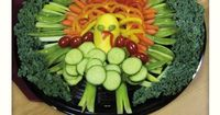Turkey Gobble Gobble Tray: What vegetables are you serving? Vegetable trays that look like animals are so cool!