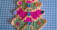 Just make lots of different sized granny squares then fold the corner up, im going to try a fancier edge next