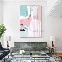 Modern abstract Painting on canvas Nordic pink wall art acrylic painting home decor wall Pictures cuadros abstractos dinning room art $129.00