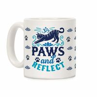 �œ� Handcrafted in USA! �œ� Support American Craftsmen. Paws And Reflect (Cat Ceramic Coffee Mug $14.99