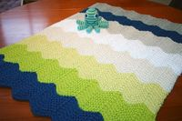 Austin's Chevron Baby Blanket - it knitted up so quickly, and the organic cotton from Blue Sky is a dream to work with, very soft and light.