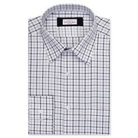 Create a stylish look with this Oxford Men white and blue Check shirt. Woven in Egyptian cotton & polyster. this check shirt has a fine finish.