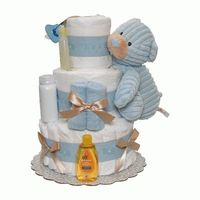 Its a Boy Cord Diaper Cake 3 Tiers