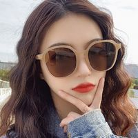 New ins Brown Sunglasses Korean version Chao Sunglasses tremble RETRO SUNGLASSES $17.0520% off code: fairytale