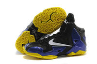 New Arrival Nike LeBron James 11 Black Purple Yellow Colorway Mens Shoes