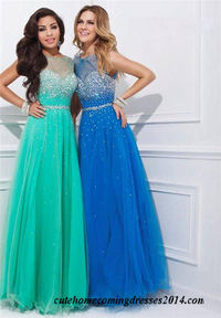 Tony Bowls 114516 Beaded Mesh Long Prom Dresses 2015