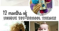 12 months of unique tot school themes | Perfect ideas for toddler learning and play activities from robots to magnets