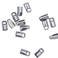 CLEARANCE Pack of 100 Silver Coloured Leather Cord Ends. 3mm Metal End Caps £6.69