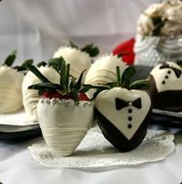 Bride and Groom Chocolate Covered Strawberries (Reception Party)