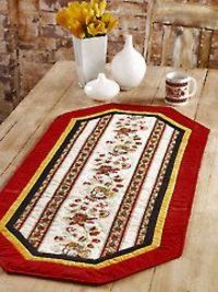 Pieced Quilted Table Topper Downloads - Break Time Table Runner Pattern