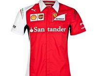 Puma Scuderia Ferrari Team Shirt Red 761461-01 The Scuderia Ferrari team shirt is the official replica of the item of clothing worn by the men of the Maranello team on the World F1 2014 race tracks, including the logo of the Team and of all the sp http://...