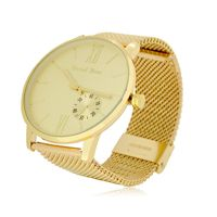 Gold Plated Decorative Dial Mesh Strap Watch £27.95